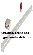Needle detector, conveyor type cross rod type needle detector