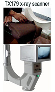 TX179 portable x-ray inspection scanner, x-ray medical scanner, baggage scanner