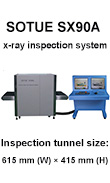 luggage scanner, x-ray machine, SX90A & SX38BS conveyor type x-ray screening system