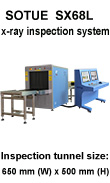 Baggage scanner, conveyor type x-ray inspection system machine